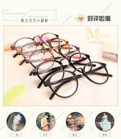 Wholesale korean full retro glasses female myopia mens ulzzang art metal frame spectacles oMEN WOMEN OPTICAL FRAME VINTAGE PLATE MYOPIA BIG SQUARE Ff