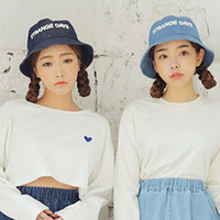 Wholesale 2 Color Jeans Bucket hats Buckets caps Bucket Hats Baseball Caps Cap Snap Back Snapbacks Hat High Quality Mixed Order F239