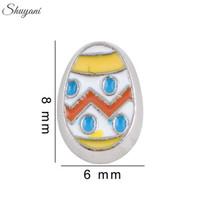 al por mayor colgantes collar de huevo-Pintura Huevos de Pascua encantos pendientes de 20pcs Memoria Viva la pulsera de DIY Locket collares de plata de envío libre plateado