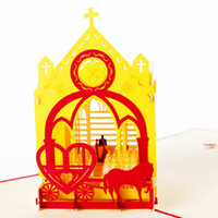 amazing greeting cards - New D Handmade Card Greeting Cards Amazing Wedding Church with Love Carriage Handmade D Pop UP Greeting Cards