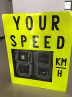 Wholesale 2 digit or digit LED display car speed limit display radar screen outdoor warning high brightness