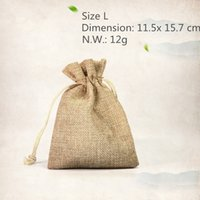 apparel packaging supplies - 50pcs Natural Fabric Burlap Drawstring Pouch Apparel Underclothes Travelling Packaging Storage Bag