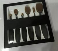 Wholesale Makeup Brushes Set Concealer Brush Oval Blending Brush Mermaid Toothbrush Foundation Powder Soft Face Brushes Pro Makeup Brush