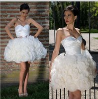 apple bottom skirt - 2017 Cute Ruffle Skirts Short Mini Homecoming Dresses Sweetheart Flower Bottom Cocktail Dresses Prom Party Gown Custom Made Cheap