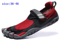 Wholesale 5 Five Fingers Shoes Fitness Shoes Women Man Outdoor Athletic Red Black M346 KSO Trek Fitting Tips Rock Climbing Hiking Sports Shoes