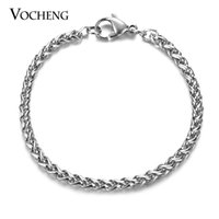 Wholesale VOCHENG Stainless Steel Bracelet Pulseras Sizes Thickness mm Chain with Lobster Clasp Jewelry Making VC