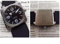 batteries specs - 46MM Quartz Watch AVIATION TYPE MILITARY SPEC LIMITED EDITION BR men s watches stainless steel wristwatch rubber strap