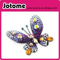 amethyst purple brooches - Amethyst Purple Butterfly brooch Pin
