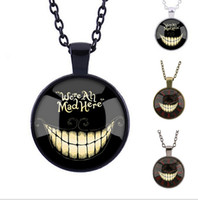 alice in wonderland quotes - Black Alice in Wonderland Necklace Cat Quote Pendant Necklaces Fantasy Gifts Birthday Alice In Wonderland Jewelry B39