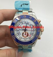 bi watches - High grade quality men s automatic watch Yacht rose gold bi color metal Master blue ceramic bezel sapphire crystal brand watches