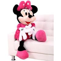 baby minnie mouse plush - Original cm Minnie Mouse Doll Big Plush Soft Mickey Stuffed Doll Anime Girl Birthday Gift Children Kids Baby Toys