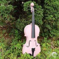 Wholesale 1 Antique Violin Make Violino Spruce Basswood Pink Wood Bow Stringed Instrument Musical More Colors