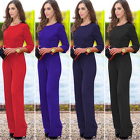 blue deep clothing - the big sexy back leakage jumpsuits clothes pants dress Newest Women Clubbing Rompers Dress Deep V Stretch Bodycon Bandage Jumpsuits