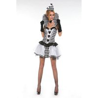 adult chess - New Black White Chess Queen costume adult fancy dress