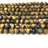 Wholesale Matte Tiger Eye Beads Round mm mm mm Strand quot Natural Loose Gemstone Semi Precious Stone Brown Bead for Bracelet Necklace making