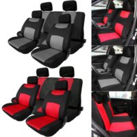 Wholesale 2 Colors of set Breathable and comfortable Universal Car Seat Cover Set Headrest Cove For Seasons