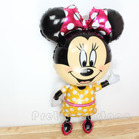 balloon cartoon - Large inch mickey balloons Minnie Mouse Airwalker Foil Balloon Mickey Mouse balloon minnie mouse mickey mouse party supplies