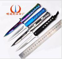 aluminium sword - Aluminium handle knife Small knife sword fish Fruit knife camping Hollow out a knife Creative home folding knife