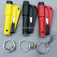 Wholesale 3 in Window emperorship car keychain chain life saving hammer escape device car safety hammer