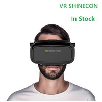 Wholesale VR Shinecon D Glasses Virtual Reality Glasses Head Mount Google Cardboard For Cell Phone Samsung Huawei Inch Smartphone In Stock