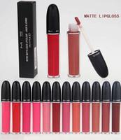 Wholesale 2016 Newest retro matte liquid lipstick lipgloss lague a levres lip gloss makeup ml free DHL