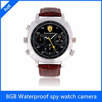 Wholesale Waterproof Spy Watch with p Hidden Spy Camera Watch Video Recorder Leather Band Security Watch Camera Mini Camcorders Hidden Camera