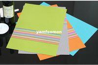 antibacterial fabric - mix colors Placemat cm Table Mat Dining Mat Textilene PVC Insulation Anti Slip Pad Antibacterial Flame Retardant