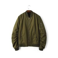 Cheap High Quality Autumn Winter 2016 New Arrivals MA1 Mens Hip Hop Coats Streetwear Army Green Loose Sport Suit Bomber Jacket