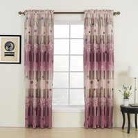 Wholesale Floral Country Red Rod Pocket Top Blackout Curtains Drapes With Multi Size Custom