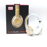 Wholesale Used Beats studio Wireless Headphones Noise Cancel Bluetooth Headphones Headset High Quality with seal retail box