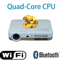 ansi digital video projector - Double wifi bluetooth HD projector quad core CPU Build in Android system to contrast lumens ANSI lumens