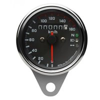Wholesale Motorcycle Gauge Dual Odometer Speedometer Gauge Backlight Signal Light DC V Hot Sale