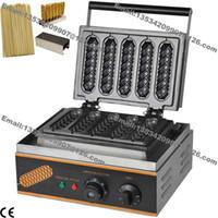 Wholesale in Commercial Nonstick v v Electric French Hot Dog on Stick Waffle Maker Baker Machine w Holder Stick