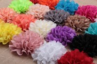 Wholesale and sale of foreign trade children s headdress flower Lace wavy cloth color more Can be used for hat hair bands etc colors