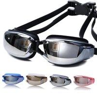 adult swim goggles speedo - Waterproof Goggles Anti fog HD Swimming Goggles Glasses Men Women Outdoor Sports Lens Plating Tabata Speedo Crystal Box Retail Package