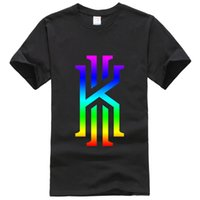 Wholesale Kyrie Irving Logo Customized Men s T Shirt Solid Sport Color Crew O Neck Tee Shirt Homme Femme Summer Women s Tops