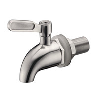 Wholesale Stainless Steel Spigot Faucet keg Tap for Beverage Wine Beer juice Dispenser Parts coffee tap