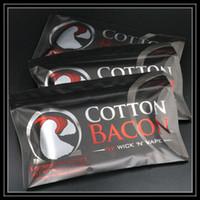 Wholesale 100 USA Original COTTON BACON Pure Bacon Cotton By Wick N Vape For DIY E Cigarette RDA RBA Vape Atomizers DHL Free