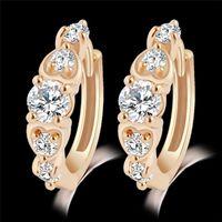 Wholesale Fashion gold crystal diamond earing ear cuff charm for women jewelry birthday gift