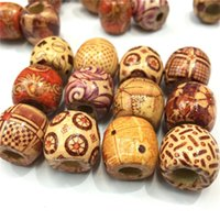 assorted wooden beads - Pack X17mm Assorted Mixed Pattern Wooden Round Bead Loose Spacer For Bracelets Necklaces wooden beads