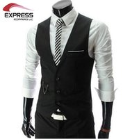 Wholesale New Arrival Men Suit Dress Vests Men s Fitted Leisure Waistcoat Casual Business Jacket Tops Three Buttons