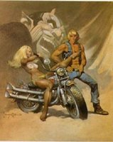 animal rider - Devil Rider by Frank Frazetta genuine Hand Painted Famous Fantasy Fine Art Oil Painting On Canvas any customized size accepted