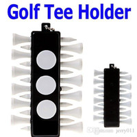 Wholesale Golf Tee Holder Carrier with Wooden Tees Ball Markers Key Chain