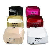 Wholesale 36W UV LED Gel Nail Lamp UV led lamp Gel Curing Tube Light Nail Art Polish Dryer Machine V V EU Plug