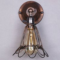 Wholesale 2015 New Modern Loft Metal Vintage Industraial Rustic Sconce Wall Light Lamp Shade For E27 Light Bulb Bulb Not Include