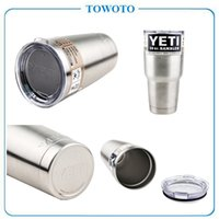 plastic cup beer - Fast Ship Stainless Steel oz Yeti Cool Cupser YETI Rambler Tumbler Cup Vehicle Beer Mug Double Wall VS Plastic Cup