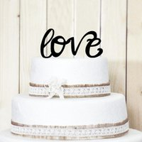 Wholesale Cupcake Inserted Card LOVE Letters Cake Topper Decorating Tools Baking Supplies