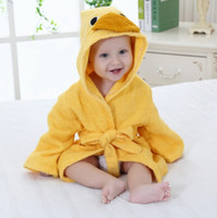 Wholesale Designs Hooded Animal modeling Baby Bathrobe Cartoon Baby Towel Character kids bath robe infant bath towels