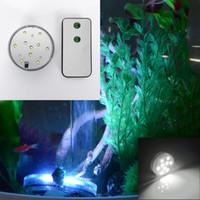 Wholesale White Led Light Aquarium Submersible Waterproof Fish Vase Tank Decor Remote