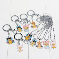 Wholesale Anime pikachu cosplay Mega Charizard Lucario Altaria Slowbro Figure Toys WIth Keychain necklace kids Christmas Gifts